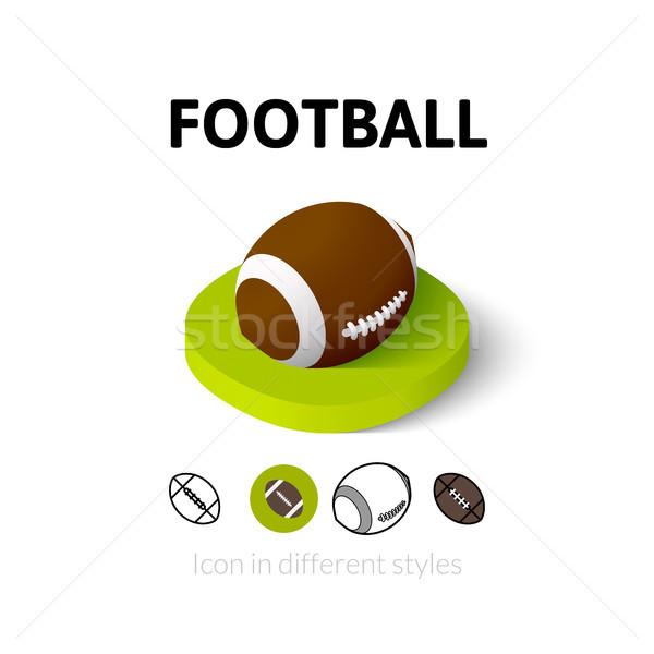 Stok fotoğraf: Futbol · ikon · farklı · stil · vektör · simge