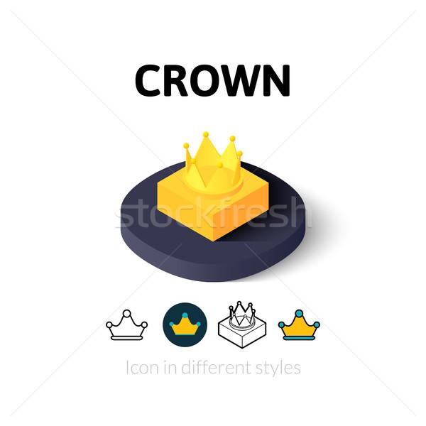 Coroa ícone diferente estilo vetor símbolo Foto stock © sidmay