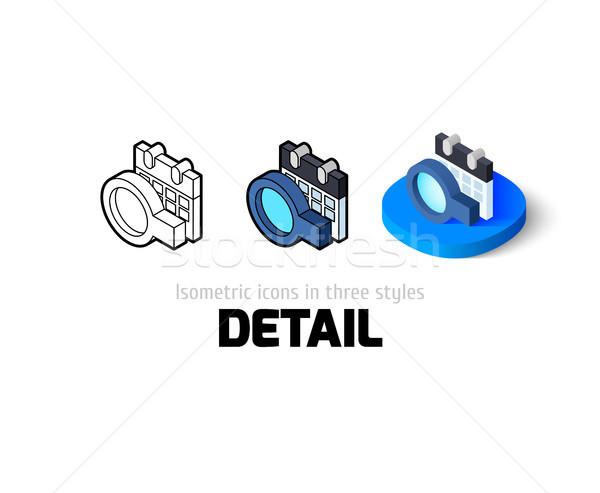 Zdjęcia stock: Szczegół · ikona · inny · stylu · wektora · symbol