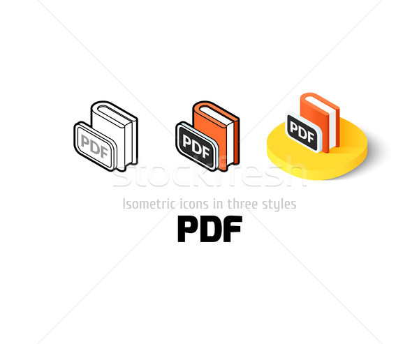 Stock photo: PDF icon in different style