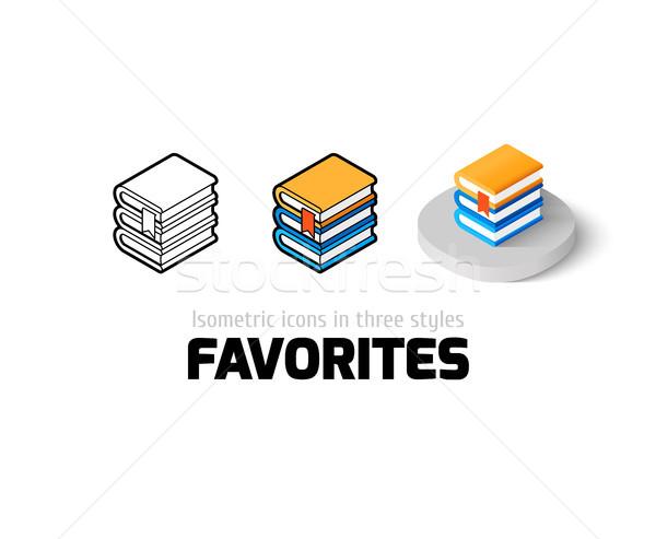 Favorieten icon verschillend stijl vector symbool Stockfoto © sidmay