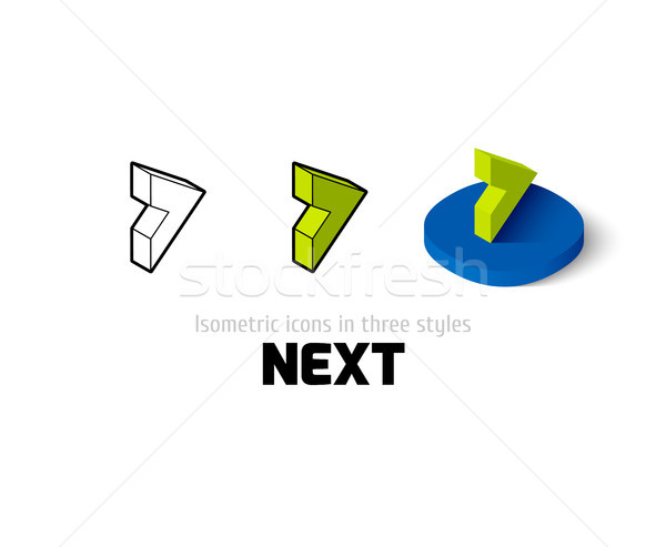 Next icon in different style Stock photo © sidmay