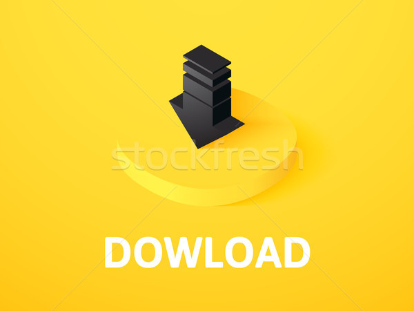 Download isometric icon, isolated on color background Stock photo © sidmay