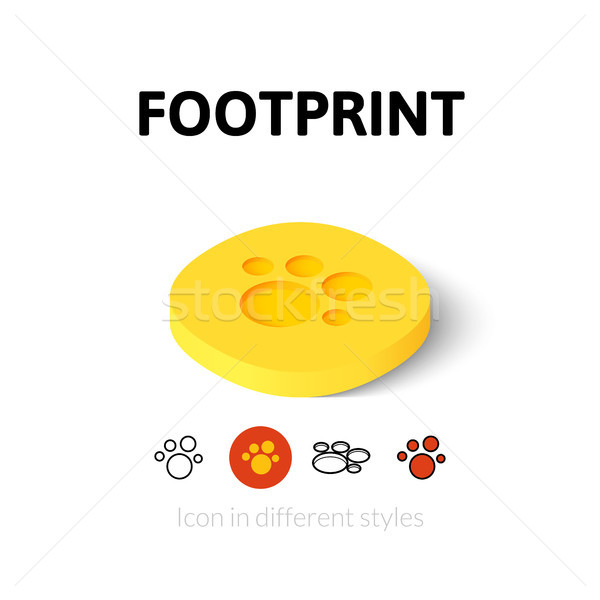 Footprint icon in different style Stock photo © sidmay