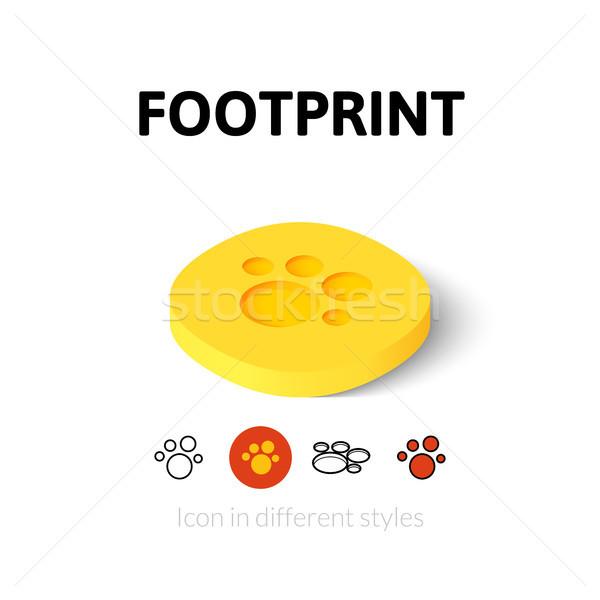 Lábnyom ikon különböző stílus vektor szimbólum Stock fotó © sidmay