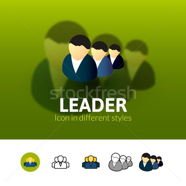 Líder ícone diferente estilo cor vetor Foto stock © sidmay