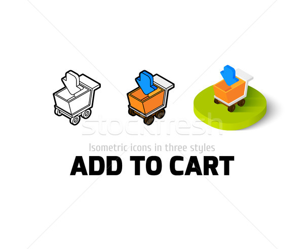 Add to cart icon in different style Stock photo © sidmay