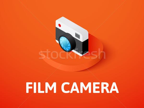 映画 カメラ アイソメトリック アイコン 孤立した 色 ストックフォト © sidmay