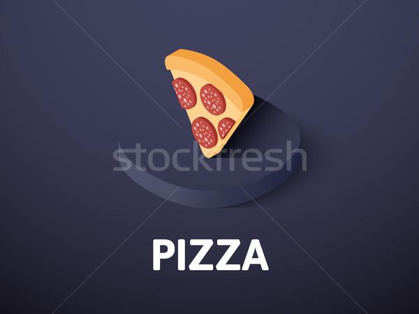 Pizza isometrica icona isolato colore vettore Foto d'archivio © sidmay