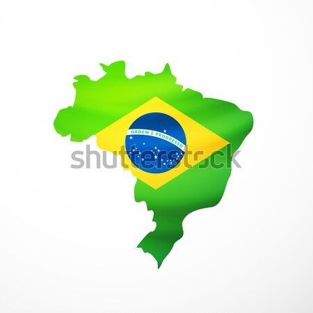 Vector flag maps of Brazil Stock photo © sidmay