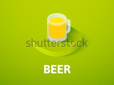 Sör ikon különböző stílus vektor szimbólum Stock fotó © sidmay