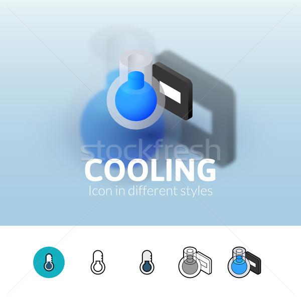 Refroidissement icône différent style couleur vecteur Photo stock © sidmay