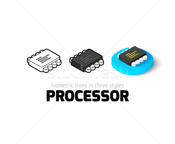 Processor icon in different style Stock photo © sidmay