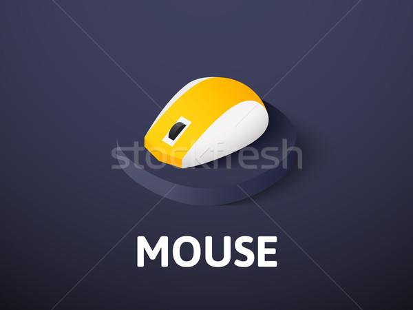 мыши изометрический икона изолированный цвета вектора Сток-фото © sidmay