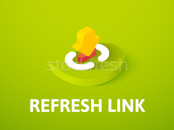 Refresh link isometric icon, isolated on color background Stock photo © sidmay