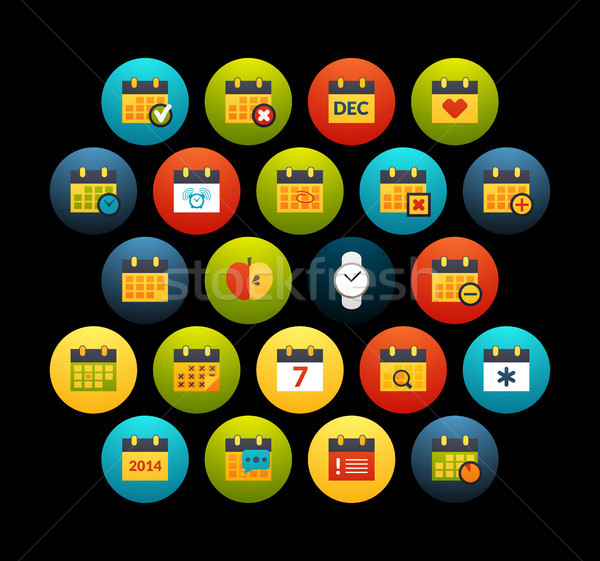 Flat icons set 16 Stock photo © sidmay