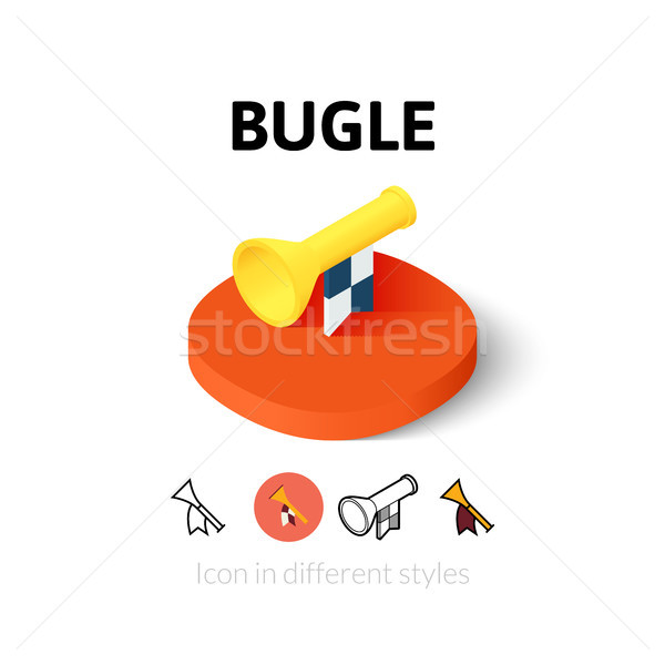 Bugle icon in different style Stock photo © sidmay