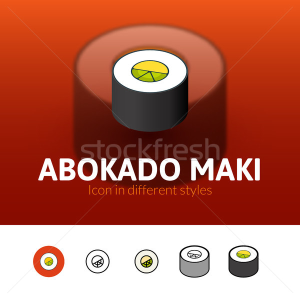 Abokado maki icon in different style Stock photo © sidmay