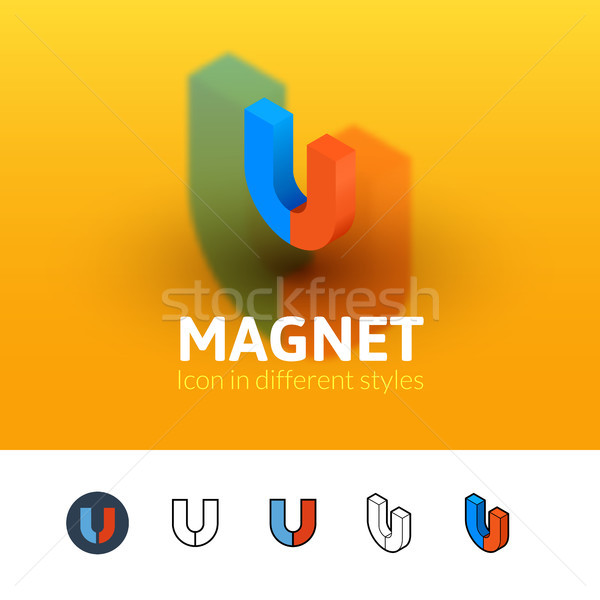 Magnet icon in different style Stock photo © sidmay