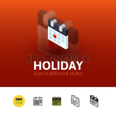 Big day icon in different style Stock photo © sidmay
