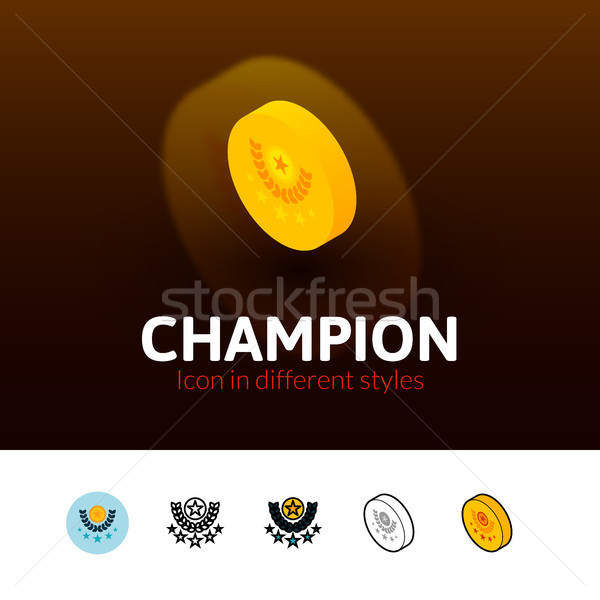 Champion icon in different style Stock photo © sidmay