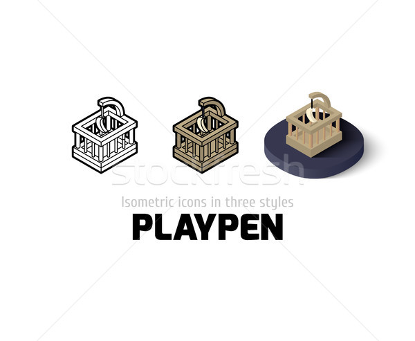 Stock photo: Playpen icon in different style