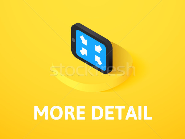 More detail isometric icon, isolated on color background Stock photo © sidmay