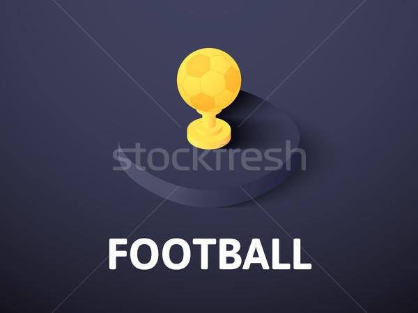 футбола изометрический икона изолированный цвета вектора Сток-фото © sidmay
