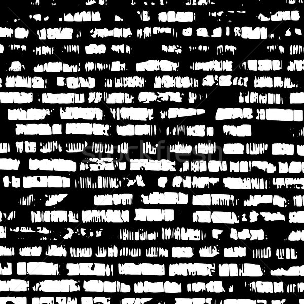 Brick wall, black and white relief texture with shadow Stock photo © sidmay