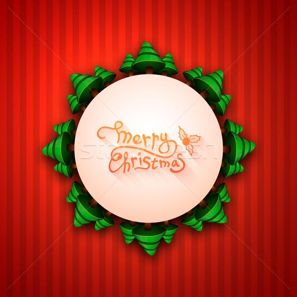 陽気な クリスマス 書道 グリーティングカード ベクトル 冬 ストックフォト © sidmay