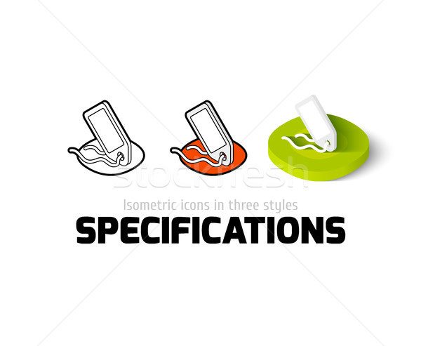 Specifications icon in different style Stock photo © sidmay
