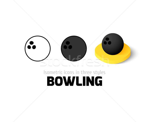 Bowling icona diverso stile vettore simbolo Foto d'archivio © sidmay