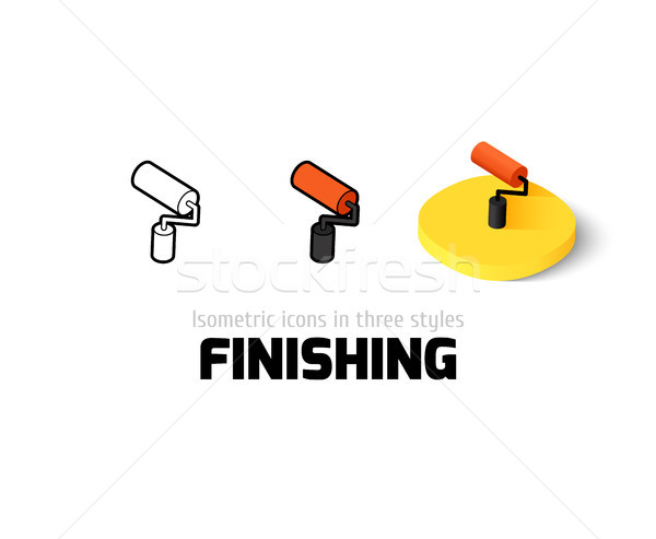 Finishing icon in different style Stock photo © sidmay