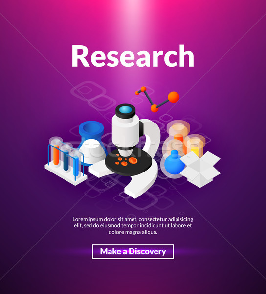 Research poster of isometric color design Stock photo © sidmay