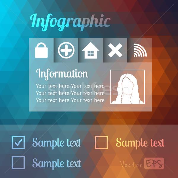 Modernes modèle de conception infographie site peuvent utilisé Photo stock © sidmay