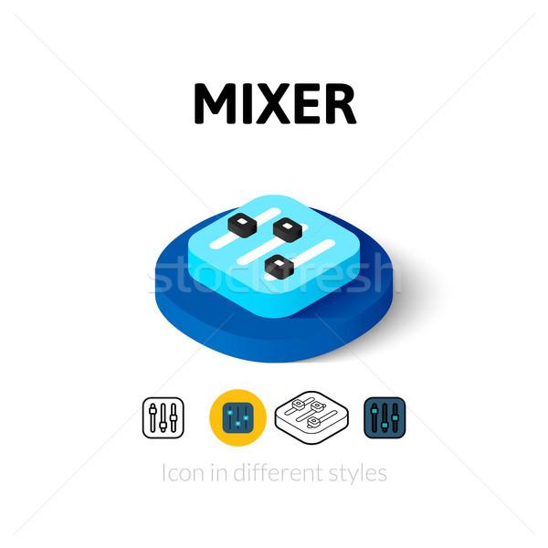 Mixeur icône différent style vecteur symbole Photo stock © sidmay