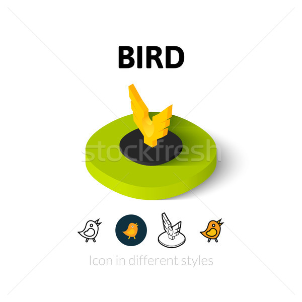 Bird icon in different style Stock photo © sidmay