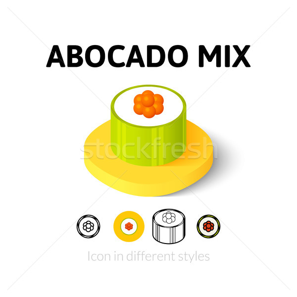 Stock photo: Abocado mix icon in different style