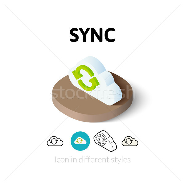 Sync icon in different style Stock photo © sidmay