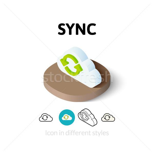 ストックフォト: アイコン · 異なる · スタイル · ベクトル · シンボル