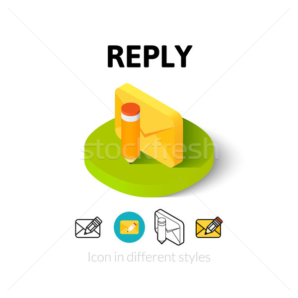 Reply icon in different style Stock photo © sidmay