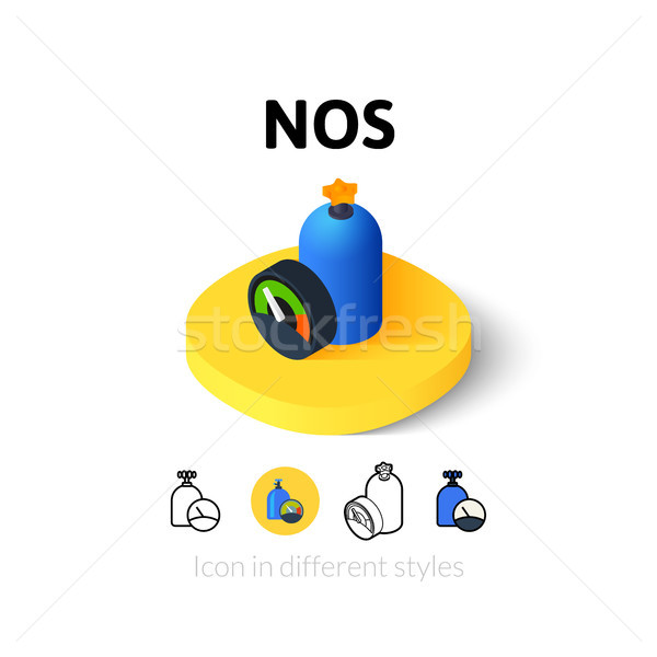 NOS icon in different style Stock photo © sidmay