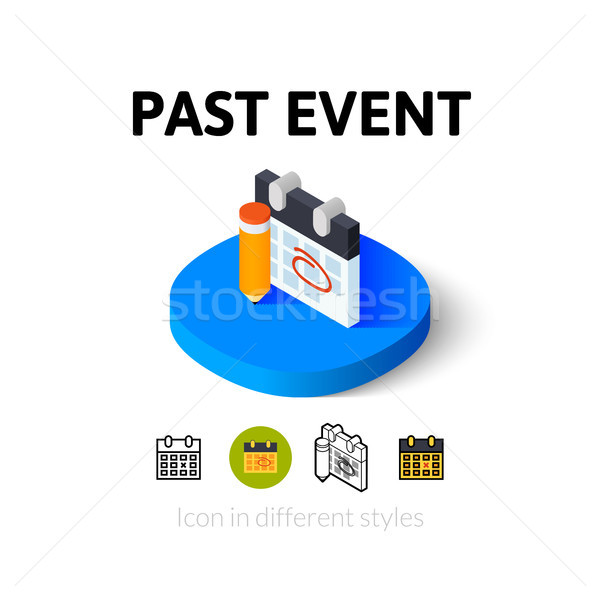 Past event icon in different style Stock photo © sidmay