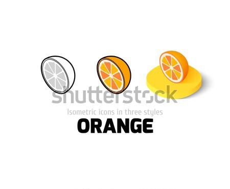 Arancione icona diverso stile colore vettore Foto d'archivio © sidmay