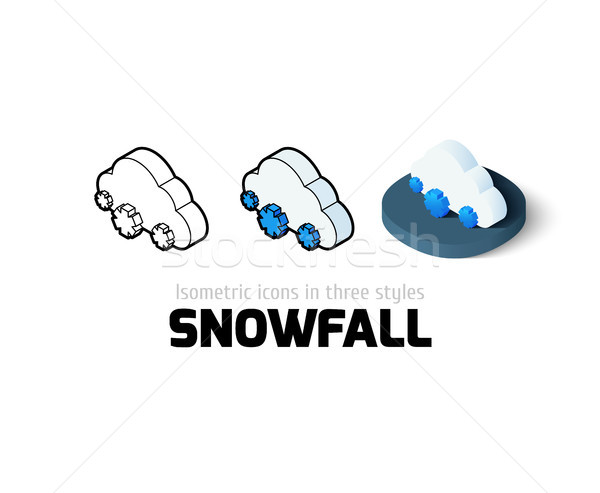 Snowfall icon in different style Stock photo © sidmay