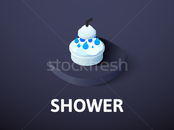 Shower isometric icon, isolated on color background Stock photo © sidmay