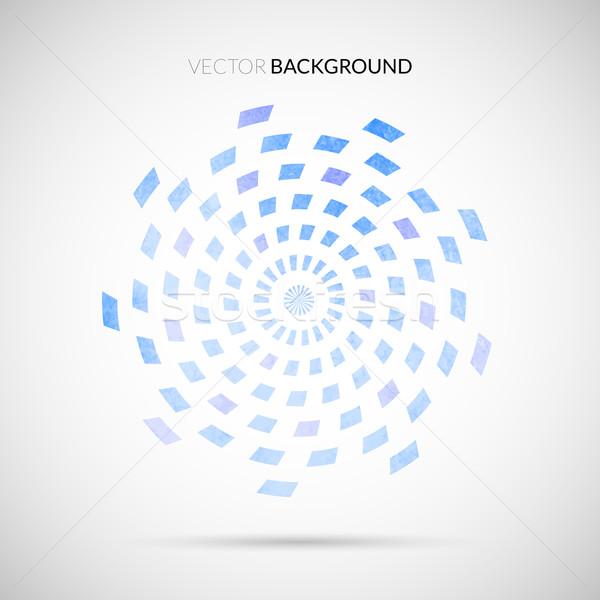 Stockfoto: Abstract · aquarel · geometrisch · patroon · water · retro