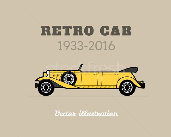 Retro limuzin cabrio autó klasszikus gyűjtemény Stock fotó © sidmay