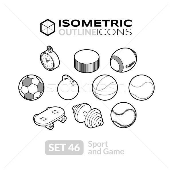 ストックフォト: アイソメトリック · アイコン · 3D · ピクトグラム