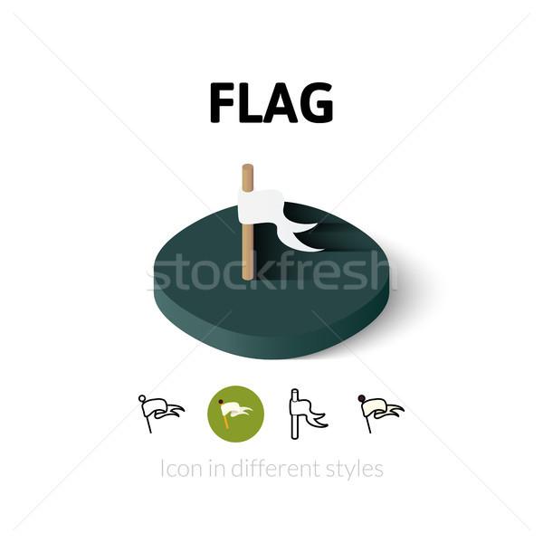 Bandera icono diferente estilo vector símbolo Foto stock © sidmay